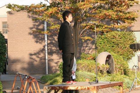 関東壮行会青木あいさつ