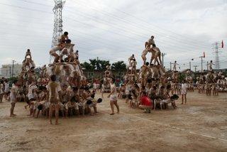 集団演技、タワー