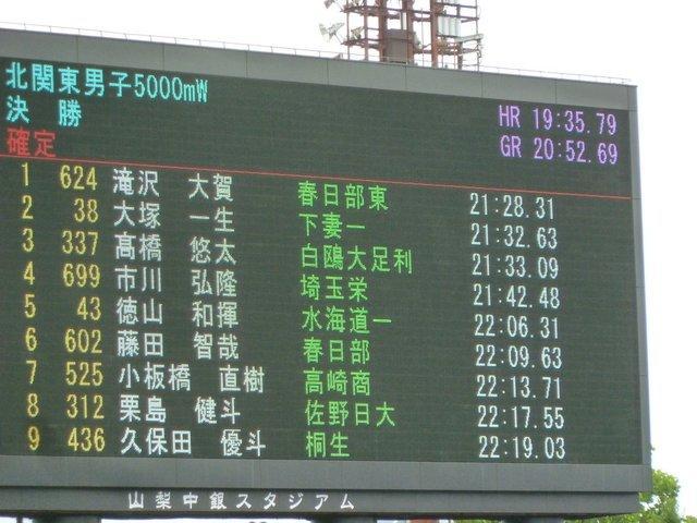 藤田5000m競歩結果
