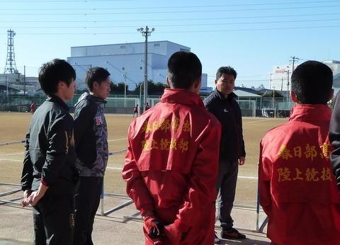 青木選手来校1
