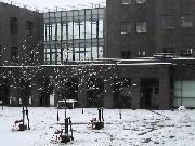 雪景色の校舎